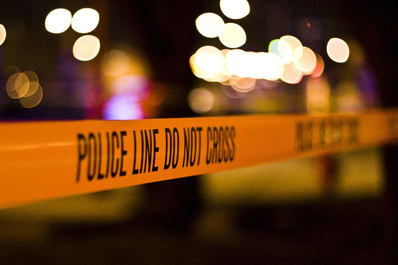Photo illustration of a crime scene.