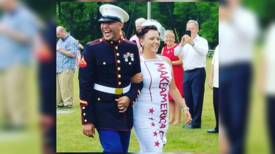 Audra and Jeff Johnson at their Make America Great Again wedding. <i>Photo: Audra Johnson IG </i>