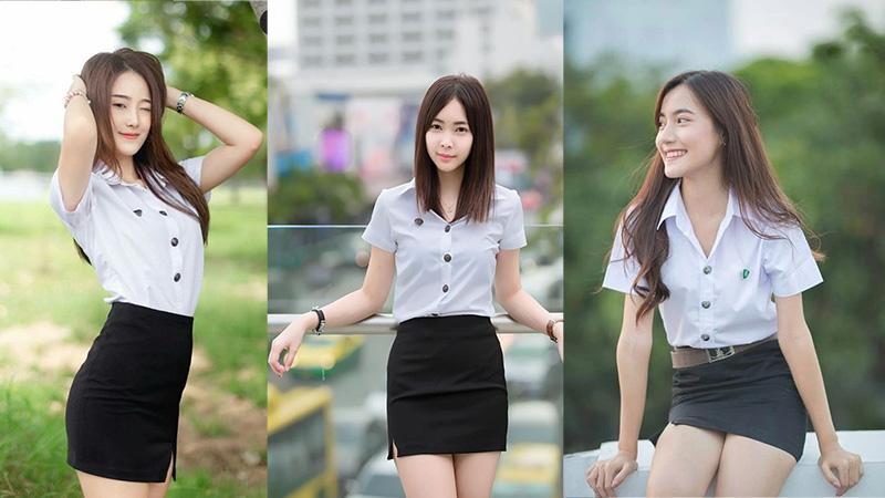 Girls thai college Meet Thai