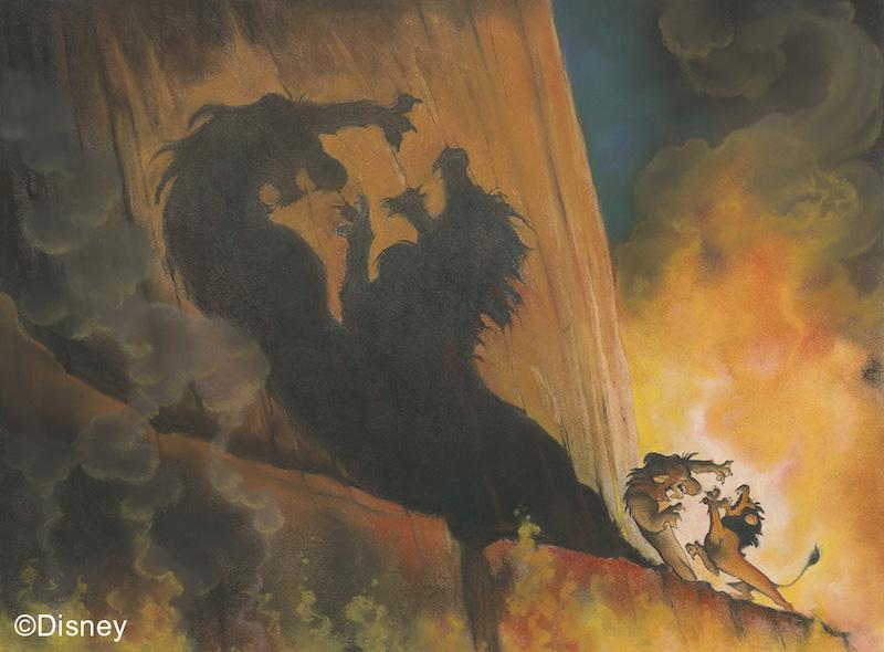The Lion King, 1994, Concept art, Kelvin Yasuda. Photo: Disney
