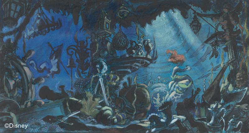 The Little Mermaid, 1989, Concept art, Michael Peraza, Jr. Photo: Disney