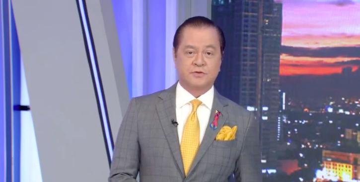 News Anchor Noli De Castro on TV Patrol's May 7 digital broadcast <i>Screengrab via ABS-CBN / YouTube</i>
