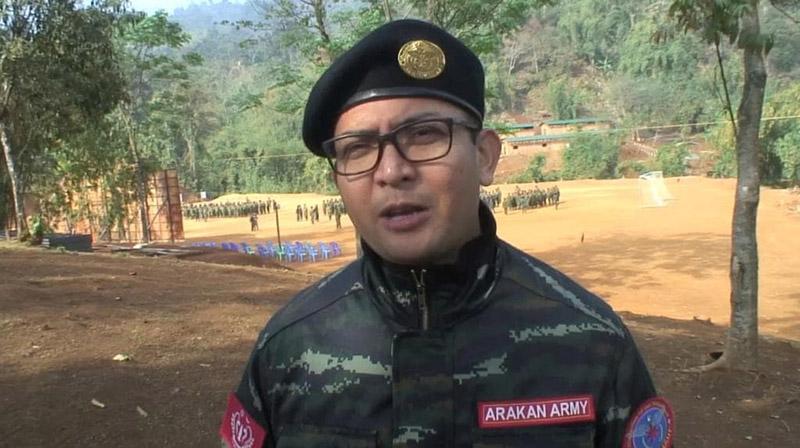 Twan Mrat Naing, 41, leads the Arakan Army. Photo: Tribal Action Group / Courtesy