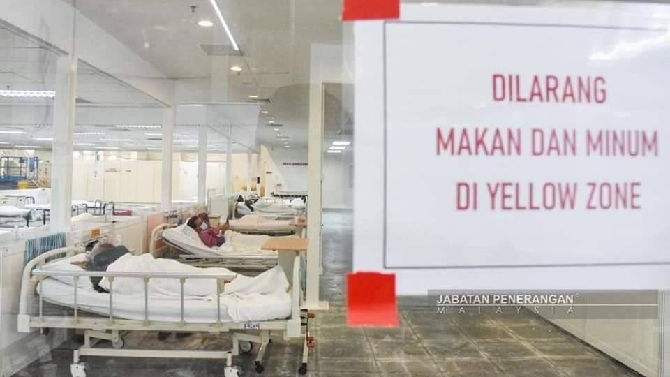 MAEPS COVID-19 quarantine center. Photo: KKMalaysia/Twitter