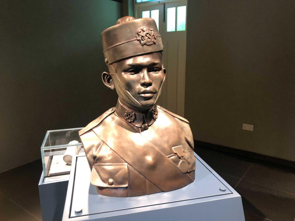 Iron bust of Lt. Adnan Saidi.