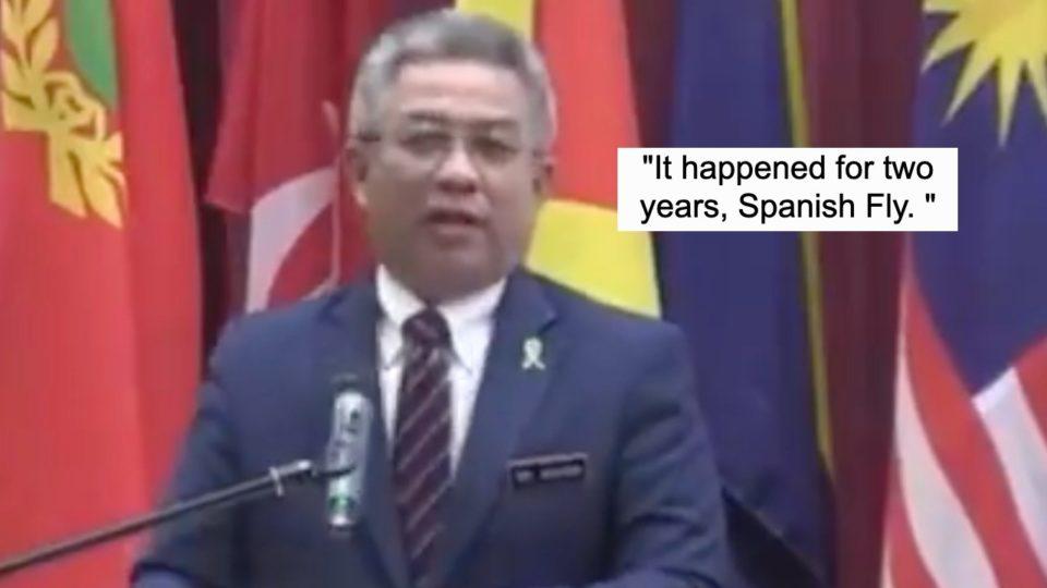Health Minister speaks at the Universiti Putra Malaysia on July 12, 2021. Photo: Feekry4u/Twitter
